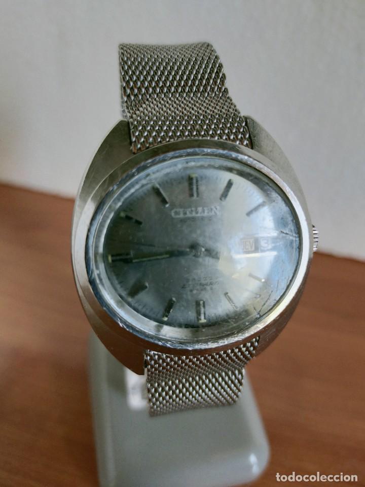 Vintage: Reloj caballero (Vintage) CITIZEN automático 28 rubis con calendario, correa acero original. - Foto 2 - 213157641