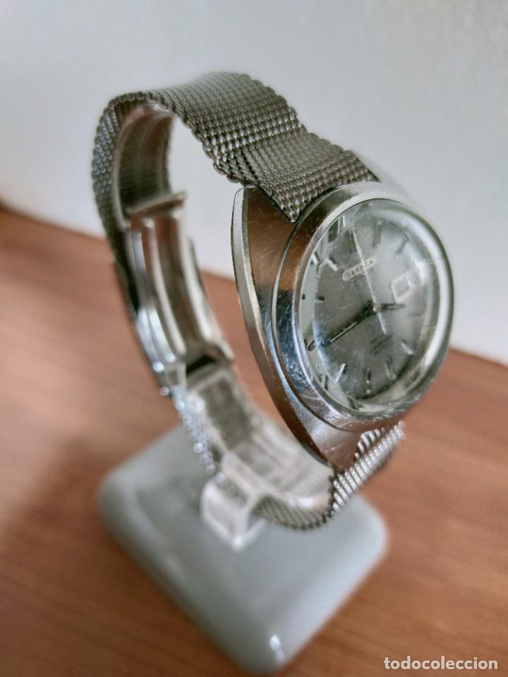 Vintage: Reloj caballero (Vintage) CITIZEN automático 28 rubis con calendario, correa acero original. - Foto 5 - 213157641