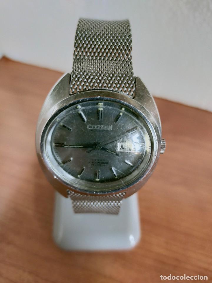 Vintage: Reloj caballero (Vintage) CITIZEN automático 28 rubis con calendario, correa acero original. - Foto 9 - 213157641