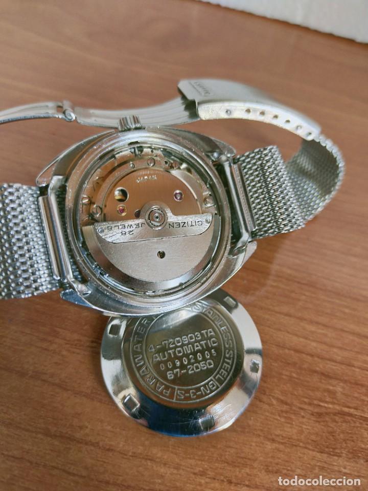 Vintage: Reloj caballero (Vintage) CITIZEN automático 28 rubis con calendario, correa acero original. - Foto 10 - 213157641