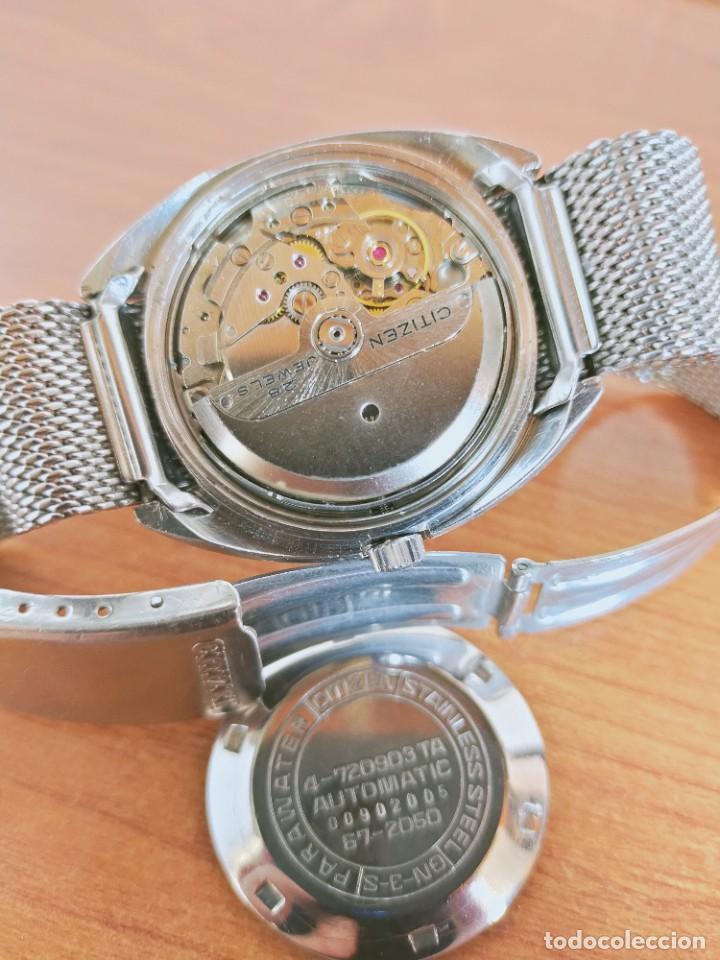 Vintage: Reloj caballero (Vintage) CITIZEN automático 28 rubis con calendario, correa acero original. - Foto 12 - 213157641