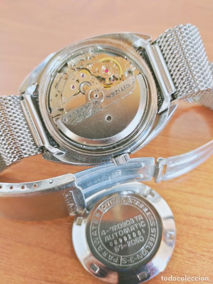 Vintage: Reloj caballero (Vintage) CITIZEN automático 28 rubis con calendario, correa acero original. - Foto 14 - 213157641