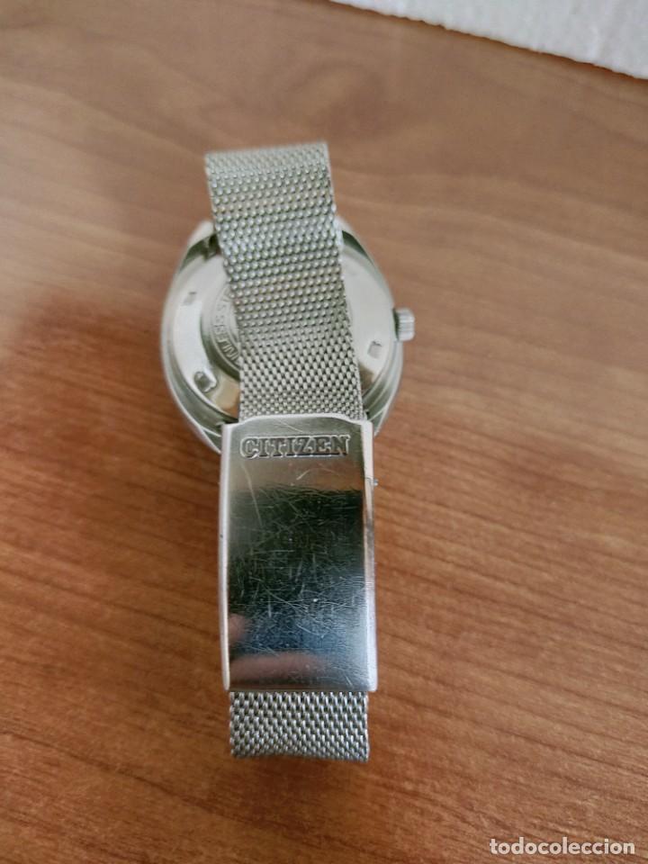 Vintage: Reloj caballero (Vintage) CITIZEN automático 28 rubis con calendario, correa acero original. - Foto 16 - 213157641