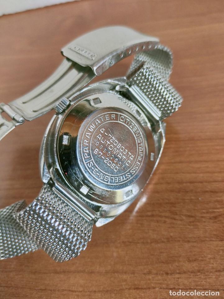 Vintage: Reloj caballero (Vintage) CITIZEN automático 28 rubis con calendario, correa acero original. - Foto 15 - 213157641