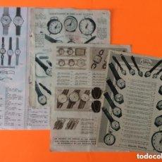 Vintage: ANTIGUA PUBLICIDAD RELOJES CERTINA, CAUNY,FESTINA, CERTINA, ROSKOPF, DUWARD, CARTEL. Lote 217192673