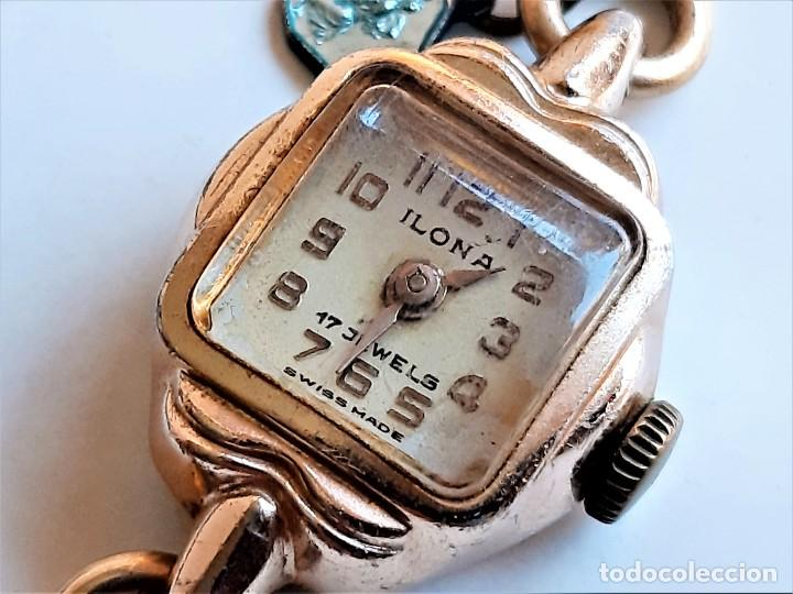 RELOJ ORO LAMINADO 12 KT. ILONA 17 JEWELS SUIZO (NECESITA ATENCION) CAJA DE 18X18.MM - 13.57.GRAMOS (Relojes - Relojes Vintage )