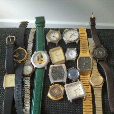 Vintage: LOTE 15 RELOJES CUARZO SEIKO,LAGONDA,CARDINAL,ETC. Lote 217769110