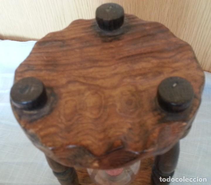 Vintage: Reloj de arena en soporte de madera. 2 minutos. - Foto 4 - 219147410