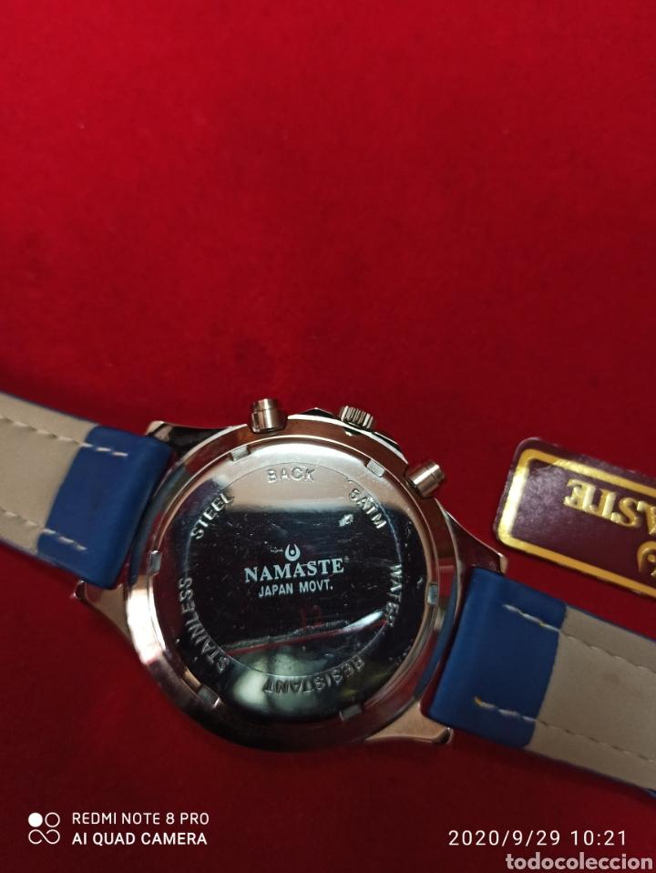 Vintage: Reloj NAMASTER CRONÓGRAFO CALENDARIO NUEVO SIN ESTRENAR FUNCIONA PERFECTO LLEVA LA PILA NUEVA DE CAL - Foto 3 - 219156862