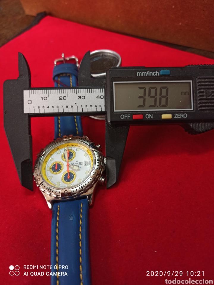 Vintage: Reloj NAMASTER CRONÓGRAFO CALENDARIO NUEVO SIN ESTRENAR FUNCIONA PERFECTO LLEVA LA PILA NUEVA DE CAL - Foto 4 - 219156862