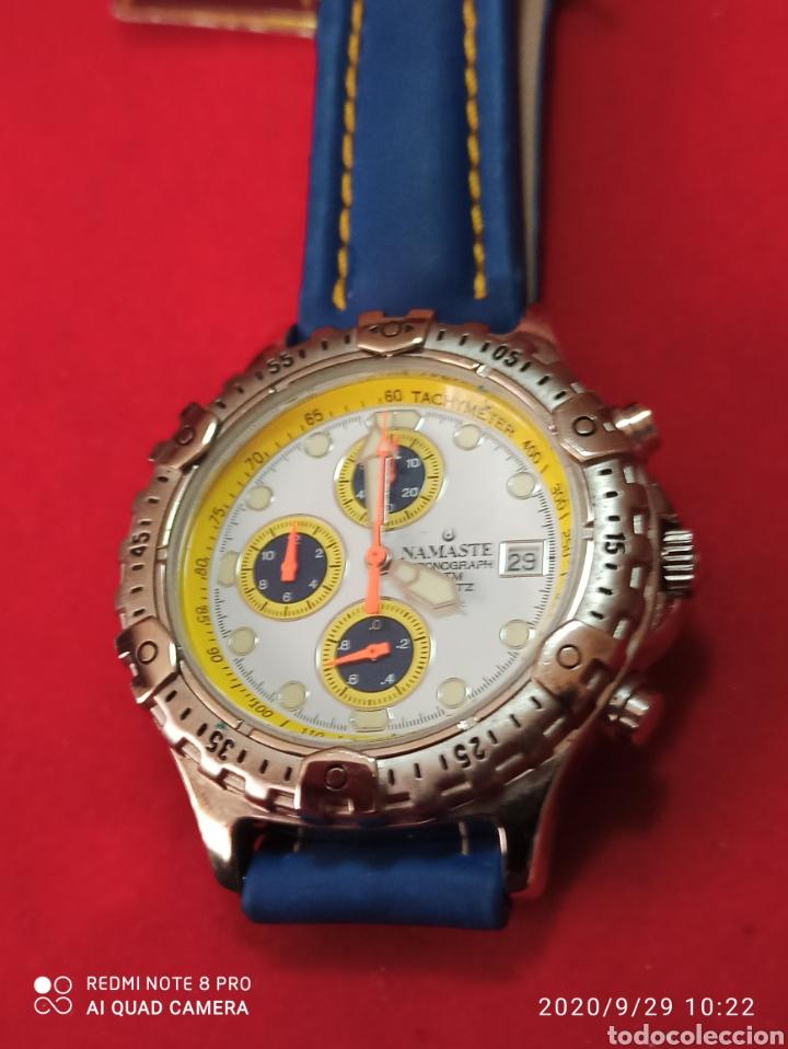Vintage: Reloj NAMASTER CRONÓGRAFO CALENDARIO NUEVO SIN ESTRENAR FUNCIONA PERFECTO LLEVA LA PILA NUEVA DE CAL - Foto 5 - 219156862