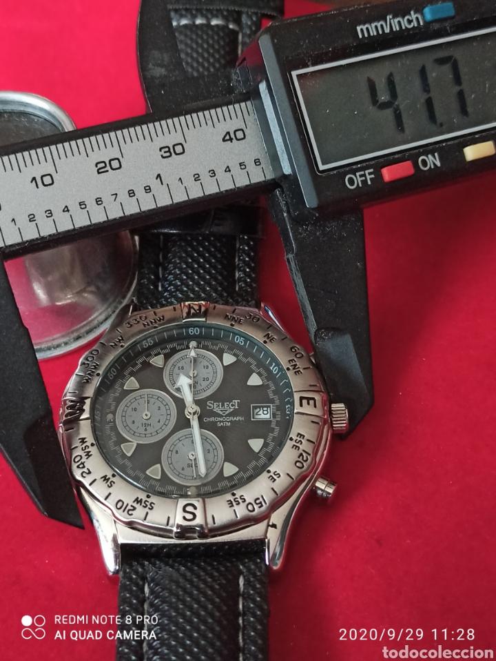 Vintage: Reloj SELECT CRONÓGRAFO CALENDARIO CUARZO NUEVO SIN ESTRENAR FUNCIONA PERFECTO LLEVA LA PILA NUEVA - Foto 4 - 219167046