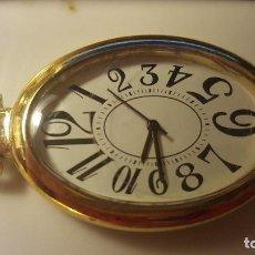 Vintage: RELOJ OVALADO COLOR ORO. Lote 219367745