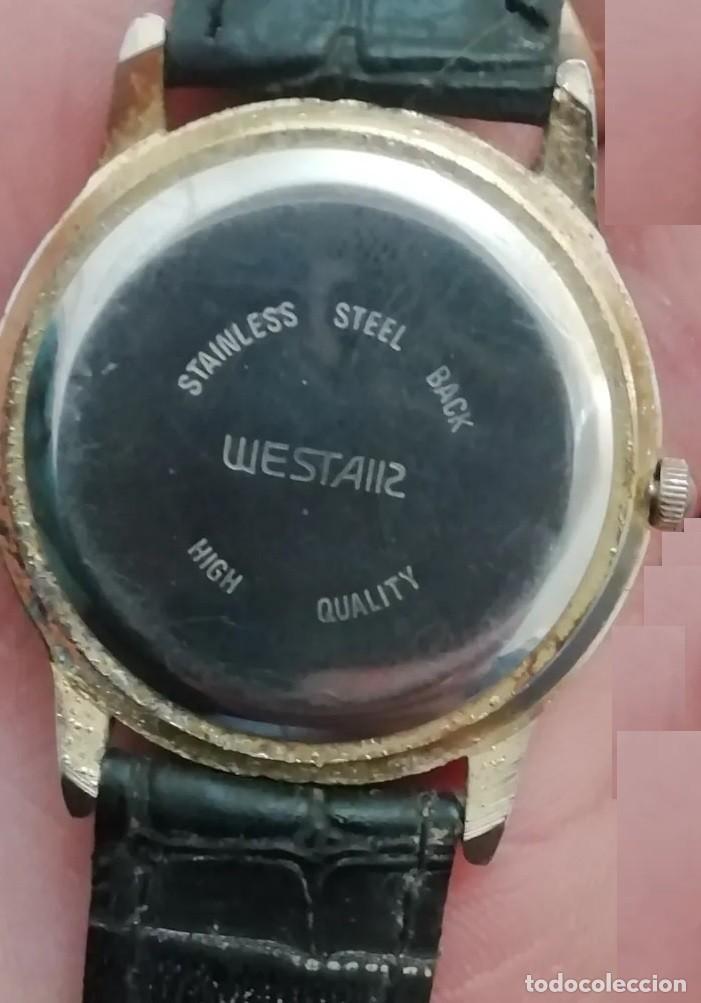 Vintage: RELOJ WEST AIR EN MUY BUEN ESTADO, FUNCIONANDO, CORREA DE PIEL NEGRA - Foto 2 - 219751305