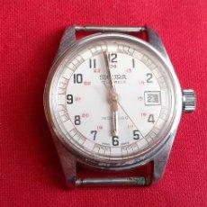 Vintage: RELOJ SIGURA 17 JEWELS INCABLOC. FUNCIONA PERFECTAMENTE .MIDE 31 MM SIN CONTAR LA CORONA. Lote 219859045