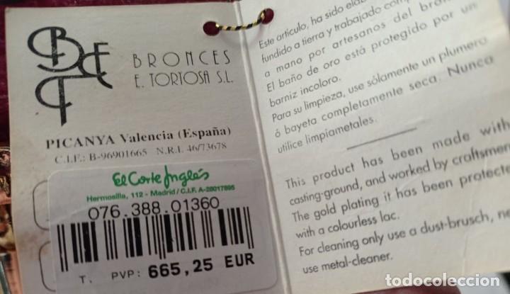 Vintage: RELOJ PORCELANA Y BRONCE BAÑO ORO - Foto 6 - 219964391