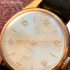Vintage: PRECIOSO RELOJ ANTIGUO DE PULSERA. CAUNY LADY 17 RUBIS.. Lote 220721205