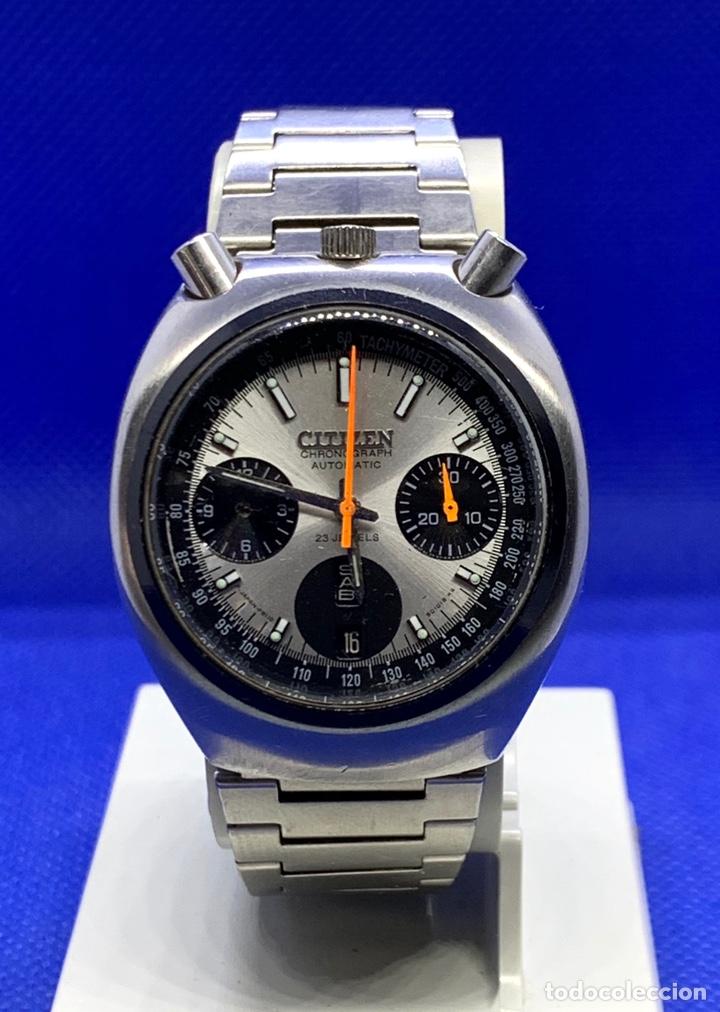 RELOJ CITIZEN BULLHEAD PANDA FLYBACK CHRONOGRAFO REF 8110 67-9011 (Relojes - Relojes Vintage )