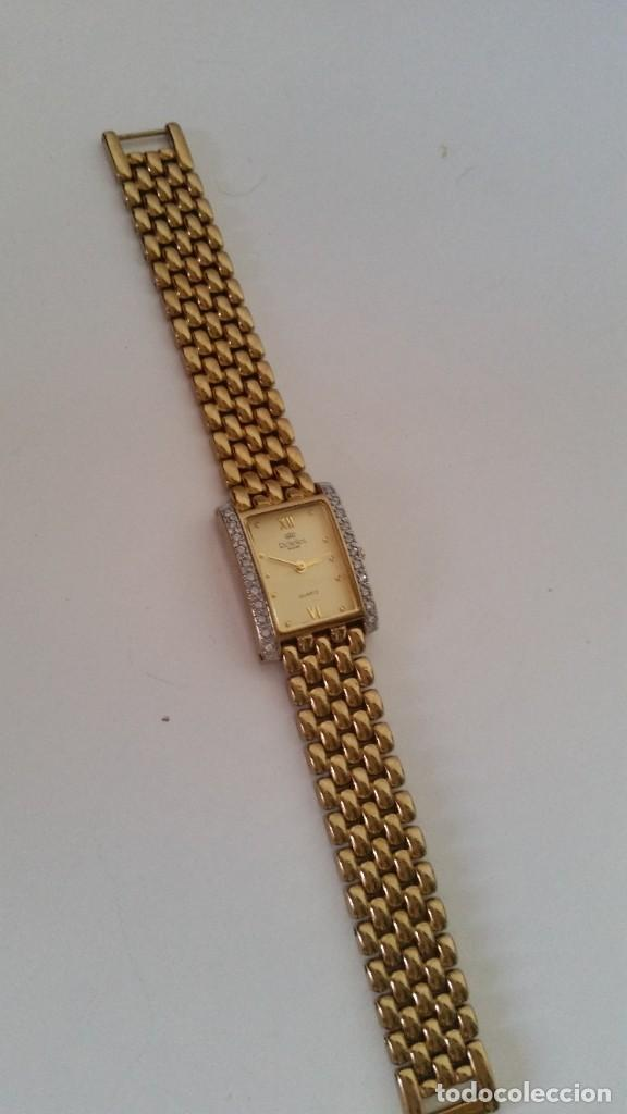 RELOGE DE ALTA BOTIQUE HECHO EM METAL DORADO CON BRILLANTES SELADO RICHELIEU ,QUARTZ SUISSE2624SWSS (Relojes - Relojes Vintage )