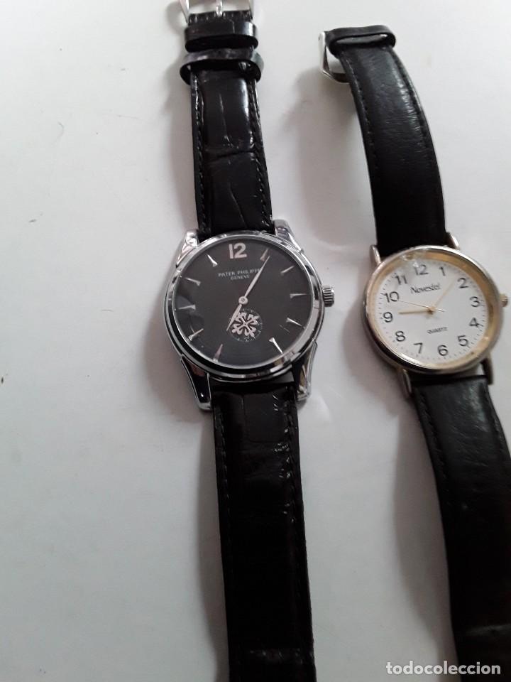 Vintage: Dos relojes, uno Patek Philippe Geneve (copia) y el otro Novestel Quartz. Para restaurar - Foto 3 - 221657490