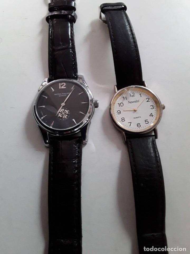 Vintage: Dos relojes, uno Patek Philippe Geneve (copia) y el otro Novestel Quartz. Para restaurar - Foto 4 - 221657490