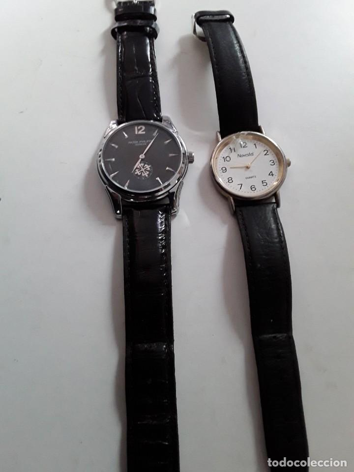 Vintage: Dos relojes, uno Patek Philippe Geneve (copia) y el otro Novestel Quartz. Para restaurar - Foto 5 - 221657490