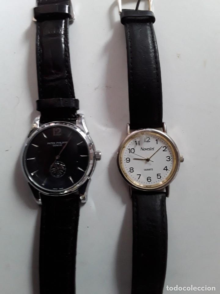 Vintage: Dos relojes, uno Patek Philippe Geneve (copia) y el otro Novestel Quartz. Para restaurar - Foto 8 - 221657490