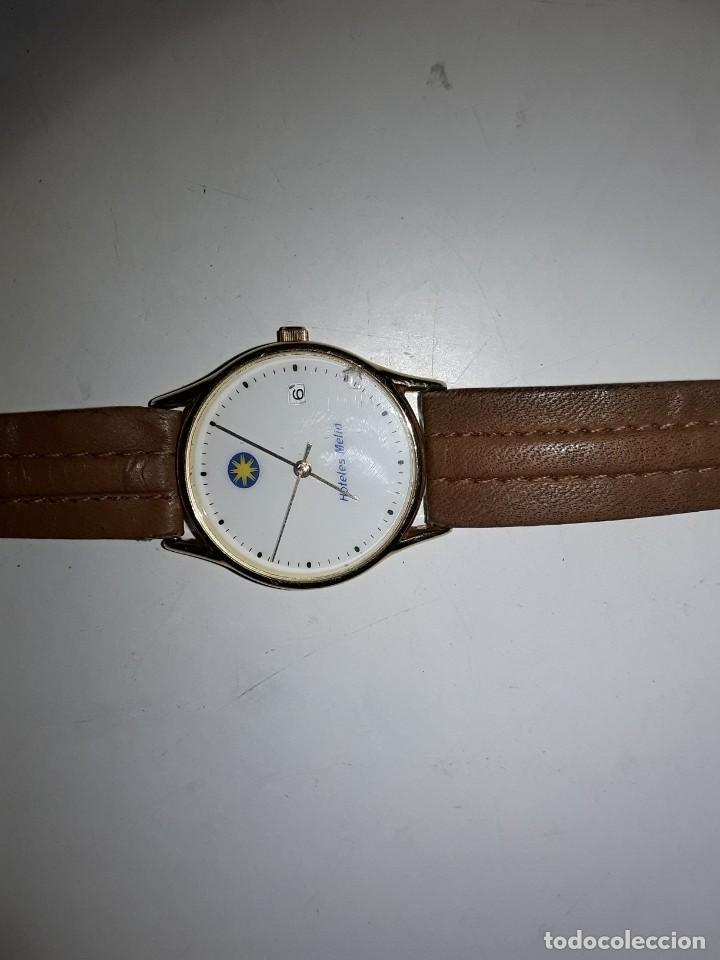 Vintage: Reloj comercial Hoteles Meliá, numerado, maquinaria japonesa Miyota. Funciona. De cuarzo - Foto 4 - 221662570