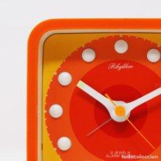 Vintage: RELOJ DESPERTADOR VINTAGE RHYTHM POP DESIGN NOS. Lote 221861887