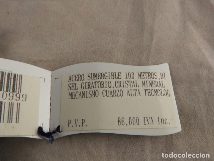 Vintage: RELOJ RAYMOND WEIL ACERO SUMERGIBLE CRISTAL CUARZO A ESTRENAR - Foto 4 - 224385128