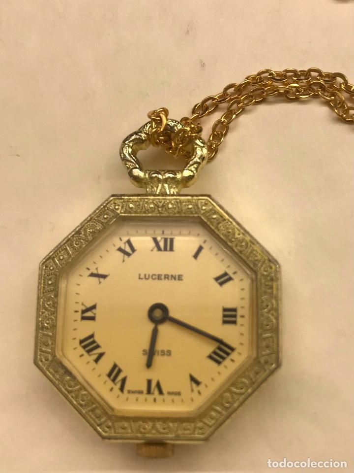¡¡¡SEMANA DE BLACK FRIDAY!!! RELOJ COLGANTE PARA SEÑORA CHAPADO ORO LUCERNE (Relojes - Relojes Vintage )