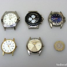 Vintage: (01-04) 10 RELOJES PARA REPARAR O PIEZAS - NO FUNCIONAN - VER FOTOS DETALLADAS.. Lote 226785845