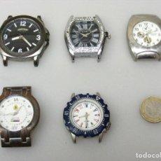 Vintage: (02-03) 8 RELOJES PARA REPARAR O PIEZAS - NO FUNCIONAN - VER FOTOS DETALLADAS.. Lote 226787710