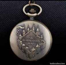 Vintage: RELOJ DE BOLSILLO THE MARAUDER,S MAP. CASTILLO, ESCUELA DE MAGIA HARRY POTTER. Lote 228664460