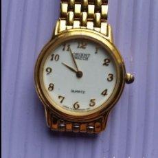 Vintage: BONITO RELOJ DE SEÑORA DE 26 MM. ORIENT WATCH QUARTZ 24 KARAT GOLD PLATED.. Lote 230347420