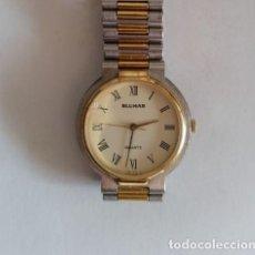Vintage: RELOJ DE SEÑORA BLUMAR QUARTZ 30 MM. INOX. BISEL GOLD PLATED.. Lote 230358750