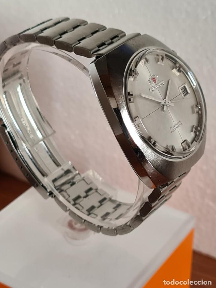 Vintage: Reloj caballero (Vintage) ORIENT automatico acero calendario las tres, correa acero, todo original. - Foto 10 - 231729675
