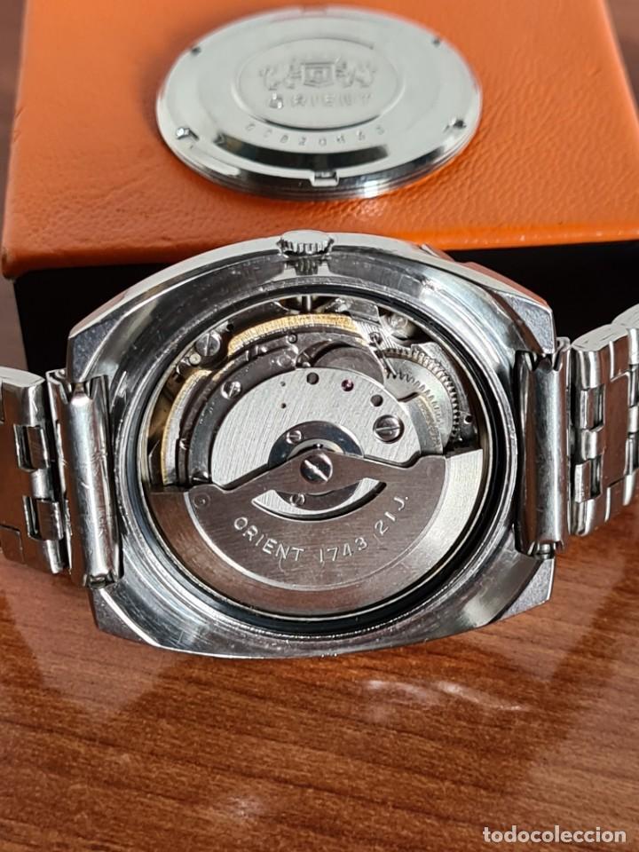 Vintage: Reloj caballero (Vintage) ORIENT automatico acero calendario las tres, correa acero, todo original. - Foto 11 - 231729675
