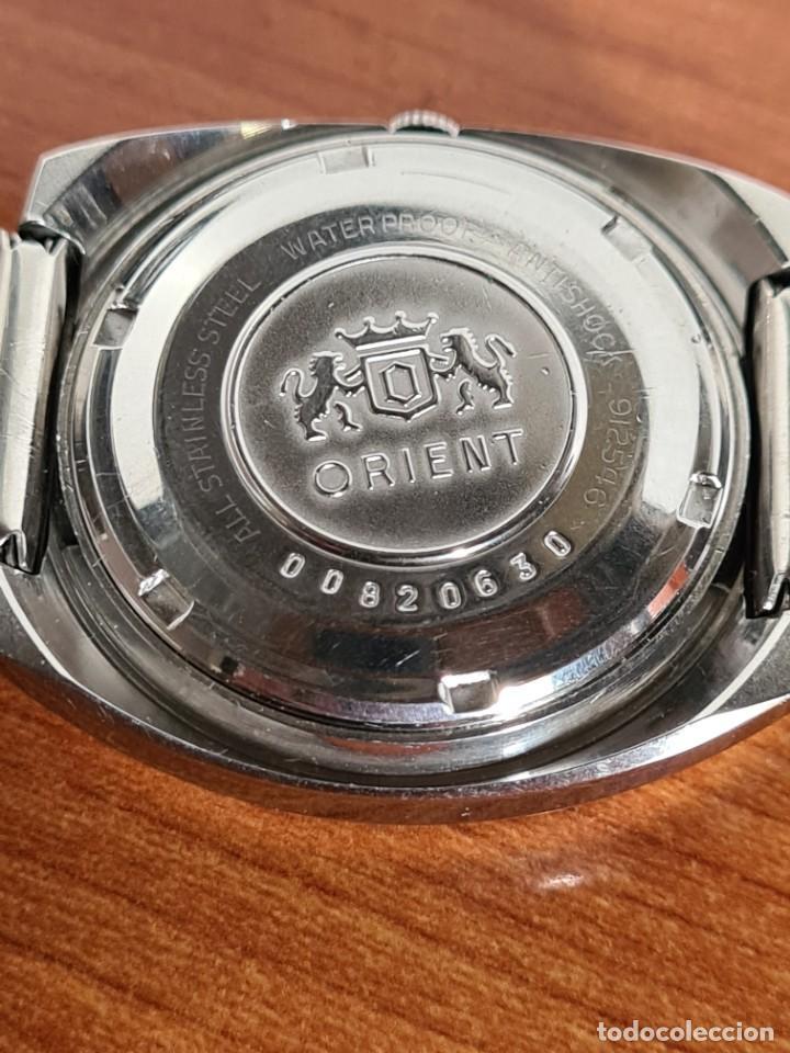 Vintage: Reloj caballero (Vintage) ORIENT automatico acero calendario las tres, correa acero, todo original. - Foto 14 - 231729675