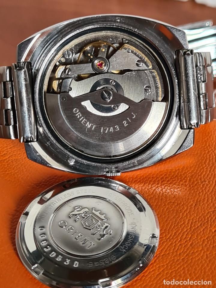 Vintage: Reloj caballero (Vintage) ORIENT automatico acero calendario las tres, correa acero, todo original. - Foto 17 - 231729675