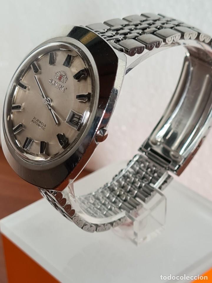 Vintage: Reloj caballero (Vintage) ORIENT automatico acero calendario las tres, correa acero, todo original. - Foto 6 - 231730290