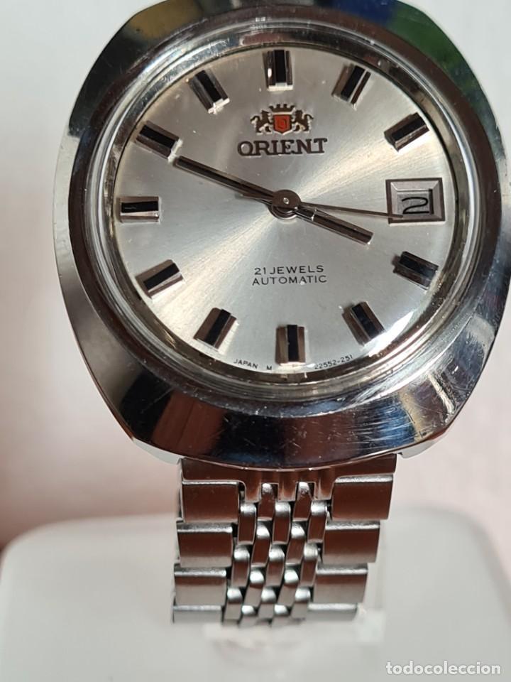 Vintage: Reloj caballero (Vintage) ORIENT automatico acero calendario las tres, correa acero, todo original. - Foto 7 - 231730290