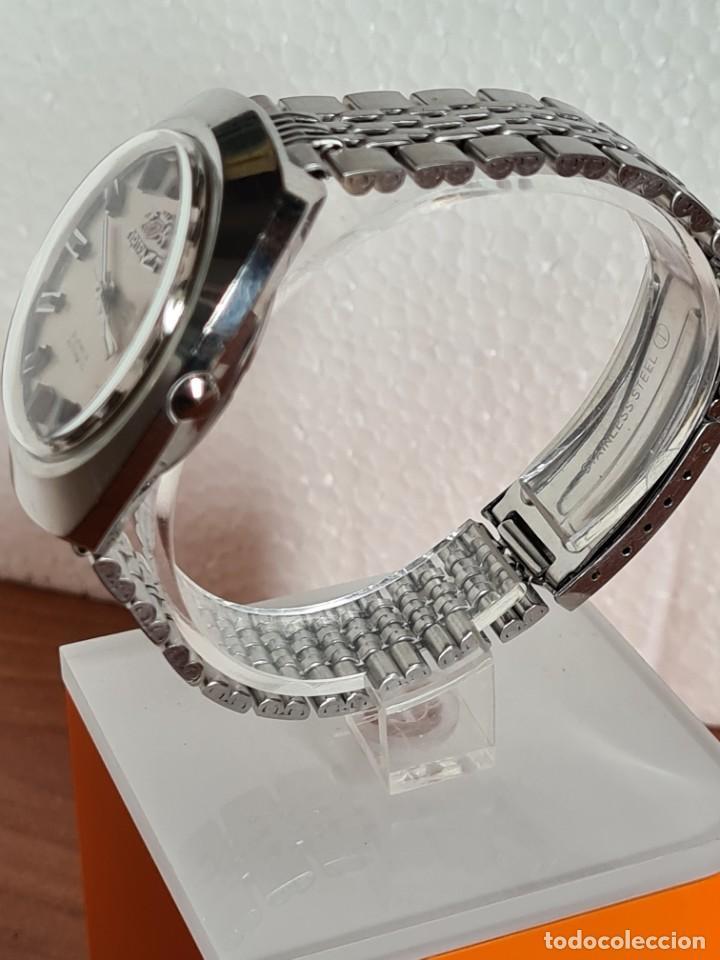 Vintage: Reloj caballero (Vintage) ORIENT automatico acero calendario las tres, correa acero, todo original. - Foto 8 - 231730290