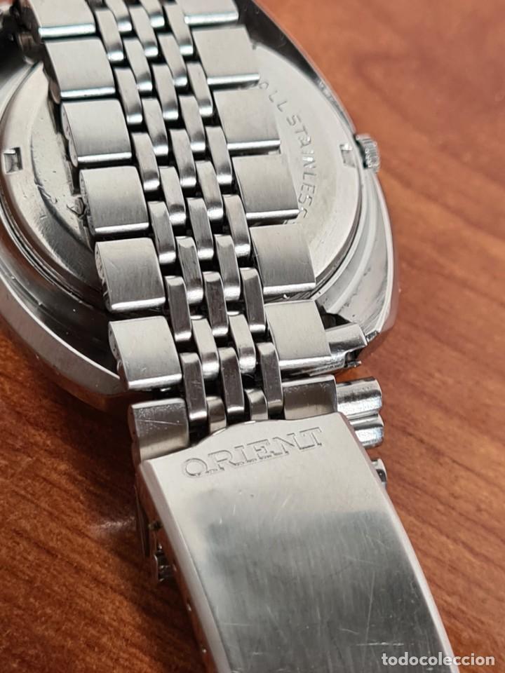 Vintage: Reloj caballero (Vintage) ORIENT automatico acero calendario las tres, correa acero, todo original. - Foto 9 - 231730290