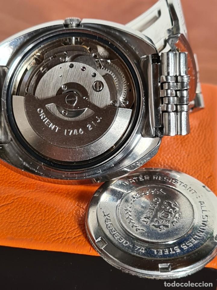 Vintage: Reloj caballero (Vintage) ORIENT automatico acero calendario las tres, correa acero, todo original. - Foto 15 - 231730290