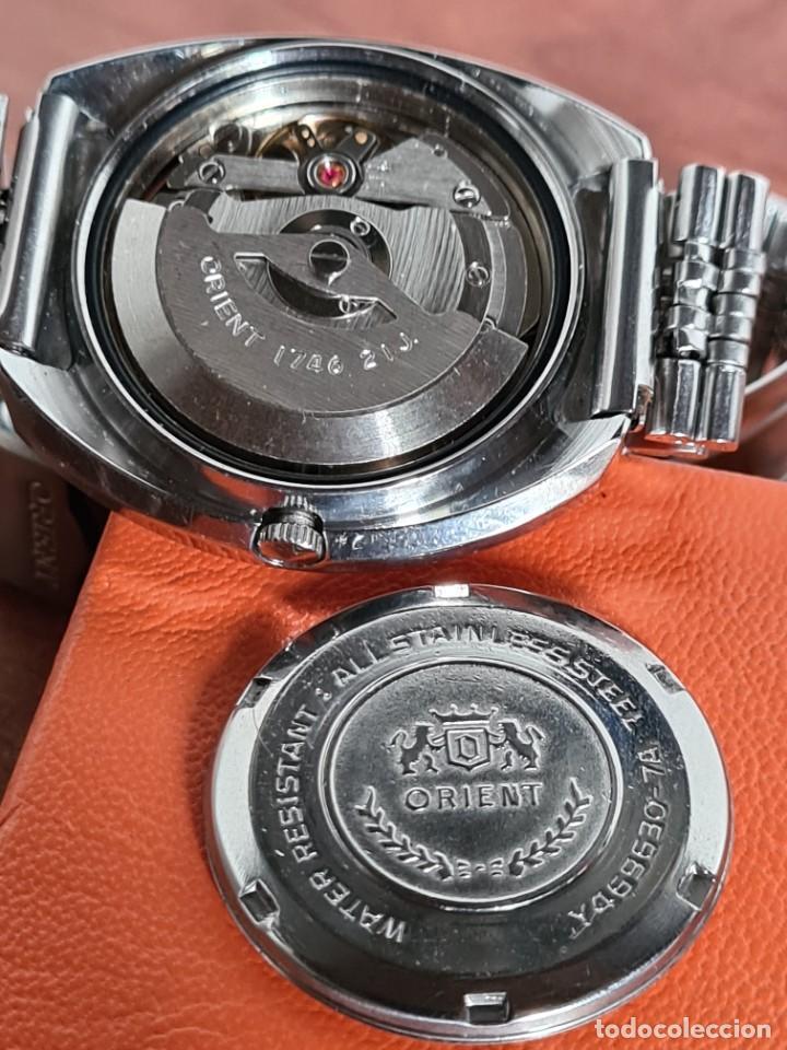 Vintage: Reloj caballero (Vintage) ORIENT automatico acero calendario las tres, correa acero, todo original. - Foto 17 - 231730290