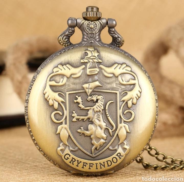 RELOJ DE BOLSILLO GRYFFINDOR. ESCUDO HARRY POTTER. LEON (Relojes - Relojes Vintage )