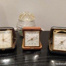Vintage: TRES RELOJES DESPERTADOR AÑOS 60. MARCA EUROPA Y TOKYO CLOCK. NO FUNCIONAN. RELOJ VINTAGE. Lote 232634735