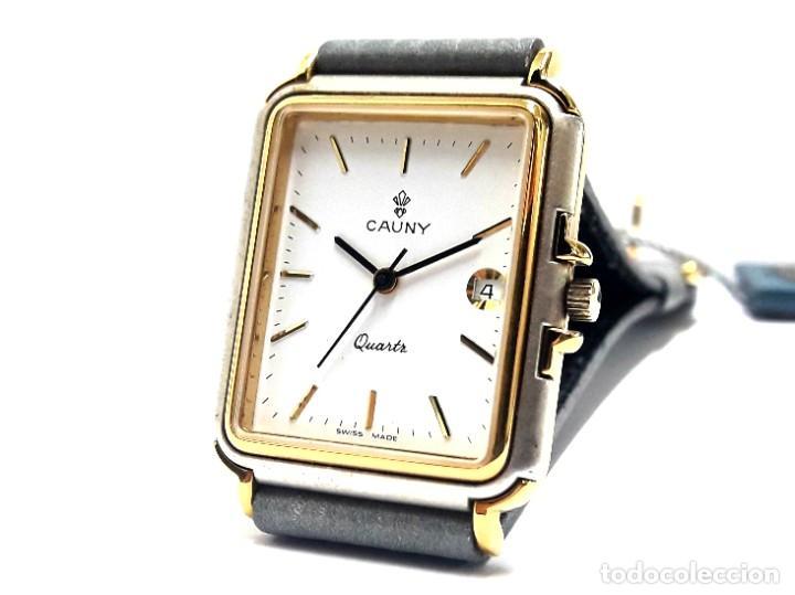 ELEGANTE RELOJ VINTAGE CAUNY AÑOS 80 DE CUARZO Y NUEVO A ESTRENAR (Relojes - Relojes Vintage )