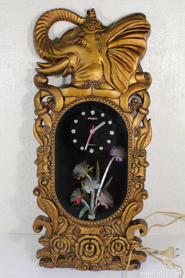 RELOJ DE LUCES - ELEFANTE - MARCA BELMAX (Relojes - Relojes Vintage )